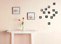 DIY digital clock, art wall clock, wall decoration, DIY personalized watches Free Shipping