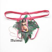 Big Sale   10 Pcs/LOT=5.75 USD  !! Wholesale  leaves g-string/sexy g-string/Cheap g-string