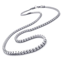 2013 New hot sale luxury silver color 316L stainless steel fit match SNAKE chain necklace,fashioin wholesale free shipping
