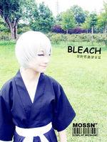 Bleach Ichimaru Gin Short Pure White Costume Hair Party Coser Cosplay Wig