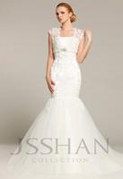 12W034 Strapless Beaded Appliqued Mermaid Bridal Train Gorgeous Luxury Unique Wedding Dress Wedding Dresses Free Shipping