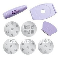 Free shipping 120set/lot  Salon Express  Nail Art Stamp Stamping Scraper image pattern Polish DIY Decoratio Set