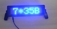 LED car display/LED car sign/ Russian and English remote control/ moving sign/ programmable sign/ Pixel 7x35 Blue