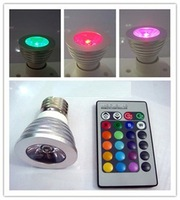 AC85-265V 16 Colors changing 3W / 5W RGB LED Lamp GU10 RGB LED Bulb Lamp Spotlight with Remote Control