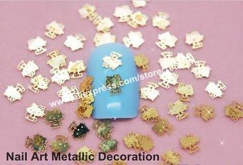 Freeshipping-1000PCS Lovely KT Design Gold Metallic Decoration Sticker Fashion Acrylic Nail Art Decoration DIY Item  DK-3514#