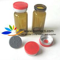 s89c 10ml amber vials red 20mm cap with aluminum seals