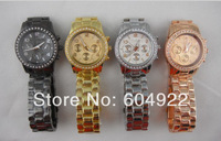 2013 Hot Sell New Fashion Men Watch Diamond Watches Stainless Steel With Calendar 4colors Wholesale 10pcs/lot