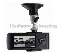 2.7 Inch LCD Wide Angle Dual Cameras Car DVR G-Sensor Car Black Box With GPS Logger X3000