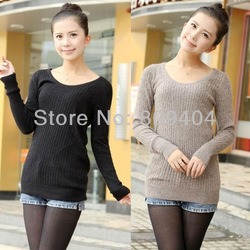 Free Shipping Sunlun Ladies' Fashion Base Knitwear Fashion Sweater 2013 New Arrival SCW-4097(China (Mainland))