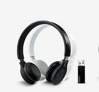 Free shipping New Rapoo H8020 2.4G Wireless Stereo Headset Headphone Touch Volumn Control -W/Micro Black and White