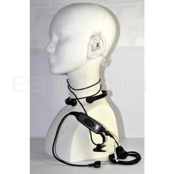 Throat Vibrate MIC Earpiece for ICOM F3 F3S F4 F11/21/24/V8TH7 T22A Radio Walkie talkie transceiver interphone C0118A Alishow