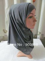 free shipping 2-pcs set pure color cotton higabs,muslim scarf,islamic scarf,muslim hijab,islamic hijab,muslim inner caps A-tt099