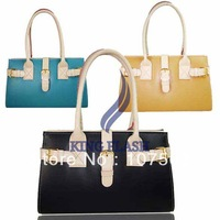 Free shipping 2013 Elegant Style PU Leather Women's Handbag Shoulder Tote Bag Purse 9099