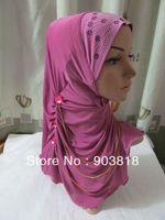 free shipping hot drill higabs with 3 chains,muslim scarf,islamic scarf,muslim hijab,islamic hijab,muslim inner caps A-tt096