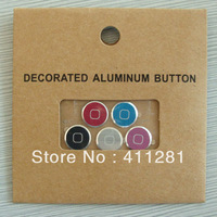iP5 Metal Aluminum Home Buttom 5PCS (White+Black+Pink+Red+Blue)
