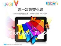 9.7 inch Cube U9GTV Android 4.1 Dual Core Retina capacitive screen RK3066 10-point bluetooth camera Tablet EMS free Shipping