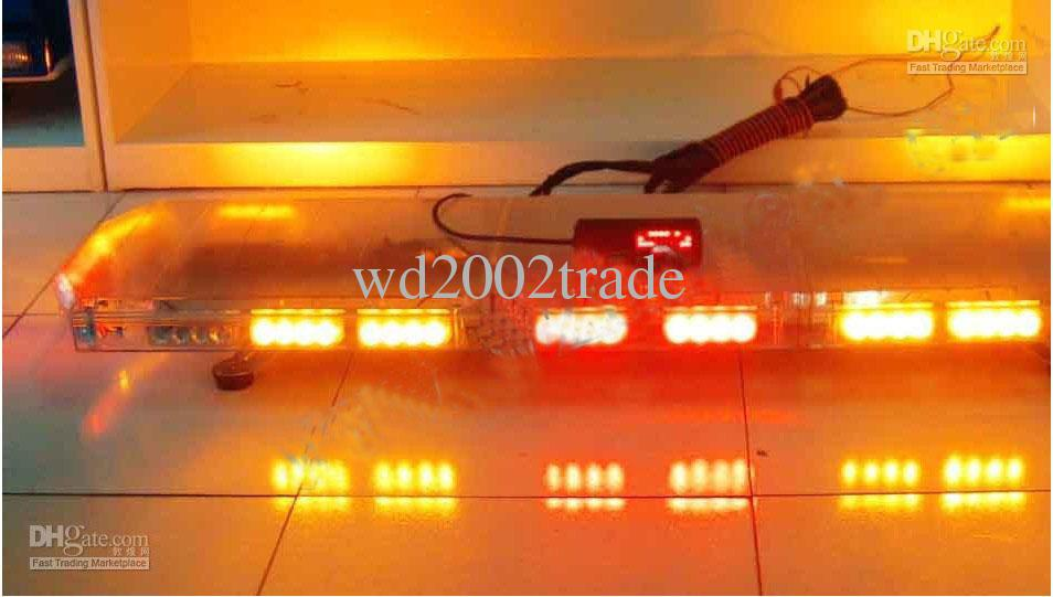 police lightbar strobe light bar warning lightbar red/amber/white/blue LED amber warning emergency lightbar(China (Mainland))