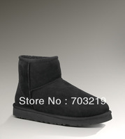 Free Shipping, Genuine Sheepskin Boots Original Women's Ankle mini snow boots 5854, 6 colors size 5-9