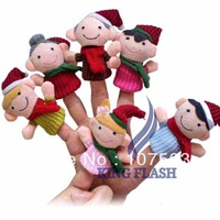 6Pcs Happy Family Soft Plush Puppet Finger Toys Educational Story-telling Toy For Children 8453