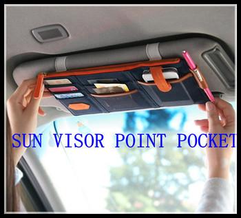 big discount 2013 new multi-function Sun Visor storage bag  car hang bag organizer cell phone