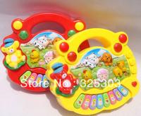 Hot! Free shipping Farm piano electronic toys musical baby educational keyboard kids toys Xmas & gift 1 PC/B-002