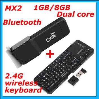 Freeshipping ! Android 4.1.1  dual core 1G RAM 8G ROM  Bluetooth iMito MX2 Mini PC+2.4G wireless keyboard