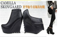 post shipping,most popular,cool sawtooth bottom,platform pumps,wedges shoes,boots,woman/lady's ankle boots,naked short boots