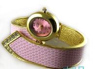 2013 Animal Watch  All-match Bracelet Watch Colorful Finelines Snakeskin Women Dress Watches ,Rhinestone Fashion Watch ML0296