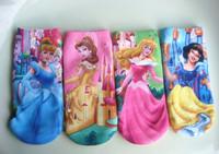 Lovely children's socks baby girls cartoon sock kids' new version of snow white pattern cotton socks 24 pair/lot FREE SHIPPING