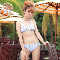 Hb swimwear 2012 summer print unique bikini small pectoral girdle pad push up female swimwear