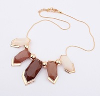 Min order 10 USD 2013 Fashion  pendants Geometry Necklace Jewelry Wholesale SPX2141 Coffee E-JOY LIFE