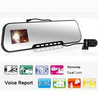 "DV805 Parking Reverse Camera Night Vision Dual-lens Car DVR Rear View Mirror DV805 1080P 2.7"" HD TFT Screen  Free Shipping"