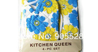 2013 Wholesale/retail High Quality 4 pcs for one set Hot Sale Kitchen Aprons Working Aprons Cooking Aprons Set 10sets/lot