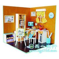 Diy pocket-size doll house mini furniture handmade child boy toy