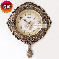 quartz digital diamond fashion vintage quieten pocket watch creative pendulum  wall clock  home decoration