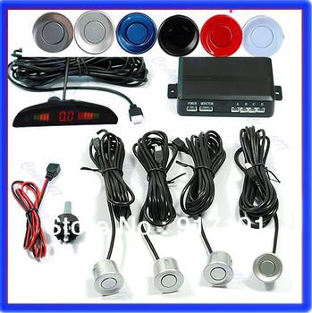 Promotional price !!! Various Colors!! 4 Sensors Car Parking System 12v LED Display Indicator System Reverse Radar Free Shipping