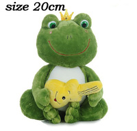 Lovely Plush Frog Doll Toy 20cm Pink Green Option Best Birthday Gift For Kids Free Shipping