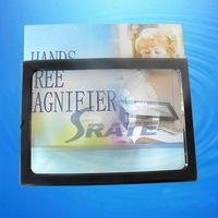A4 Size Desk Type Magnifying Glass Big Lens Illuminated Magnifier with 4 LED Lamps Reading Loupe Especially for Old PeopleCY-061