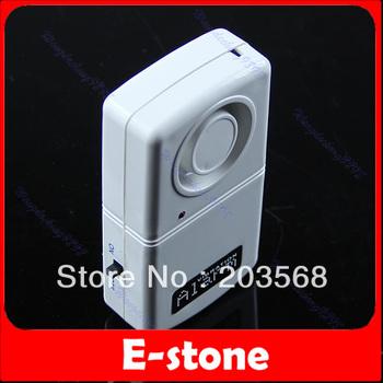 D19+Free Shipping Home Security Door Window Vibration Detector Sensor Thief Burglar Alarm White