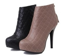 free shipping ankle boots  winter warm women lady half fashion sexy shot boot high heel shoes P2910 size 34-39