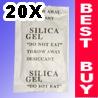 20x 10g Silica Gel Desiccant Packets Gun Safe Dry Ammo