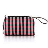 Fog flower  winter classic plaid space bag cosmetic bag travel storage bag women's handbag