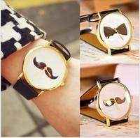 Min.order is $10 (mix order)New Arrival Fashion Unisex watchband beard watch mustache watch