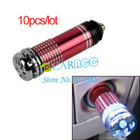 10pcs/lot Hot Selling Mini Car Air Freshener Purifier Ionic Ionizer Red 8539