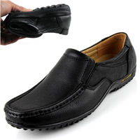 Free shipping Business, Leisure, Leather, Soft Bottom,Flats, Driving ,Slip on, Round Toe,  Men's shoes