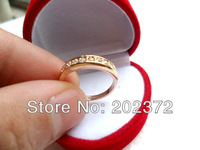 popular style 18K white Gold Plated zircon Wedding Rings ,finger ring ,engagement ring FREE SHIPPING! 0130