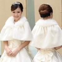 Одежда и Аксессуары Hot sale 2013 Fur Shawl Winter Wedding Thick Thermal White Red Wedding Dress Cheongsam Cape