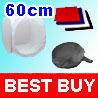 "24"" 60cm Light Photo Cube Soft Box +4 Color Backdrops"