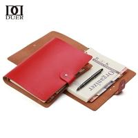 Duer Large notepad tsmip korea stationery vintage cowhide loose-leaf notebook