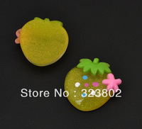 Light Yellow Cherry Flatback Resin Cabochon Cell Phone Case DIY Handmade Decoration Accessory 36PCS